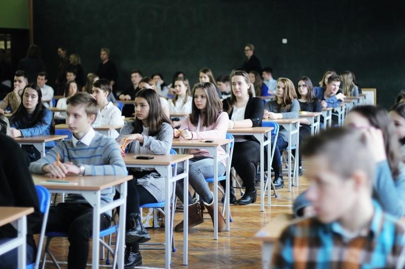 Młodzież biorąca udział w konkursie