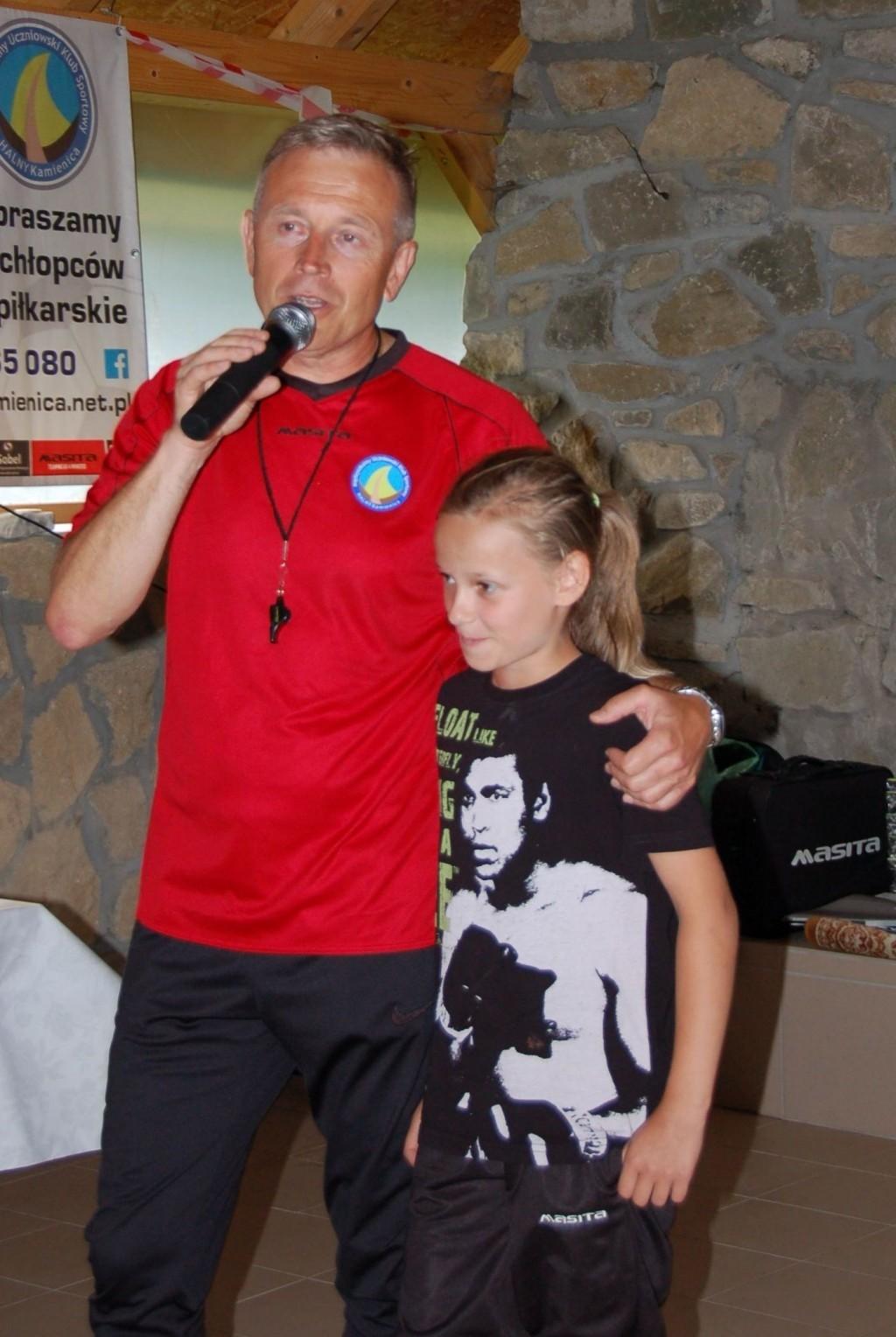zdjęcie Weroniki Kaim z trenerem