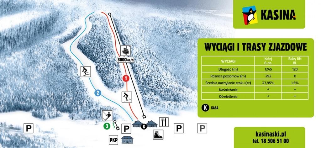 mapa stoku Kasina-Ski