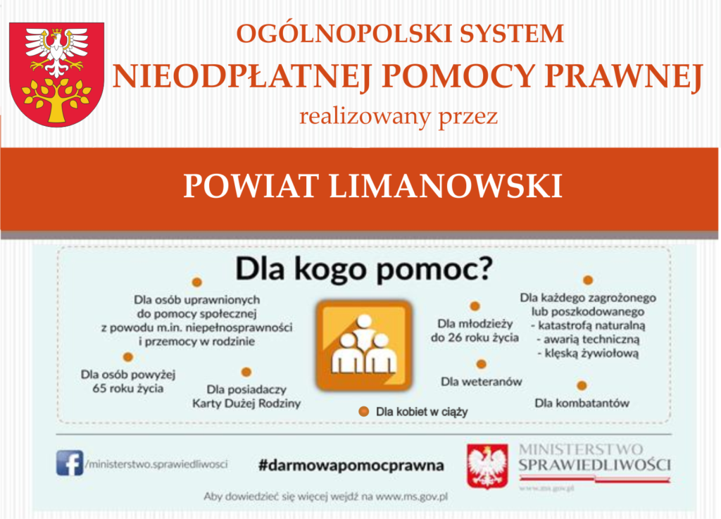 plakat nieodpłatnej pomocy prawnej