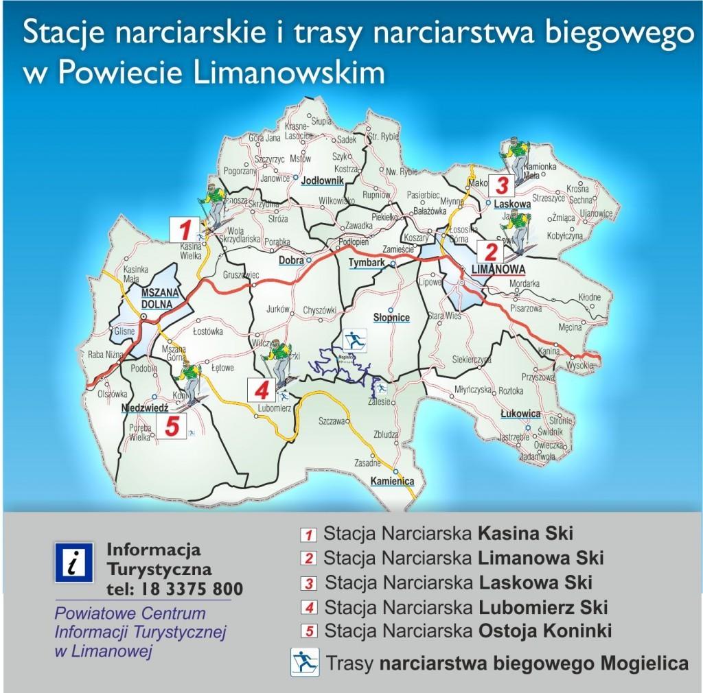 mapa stacji narciarskich