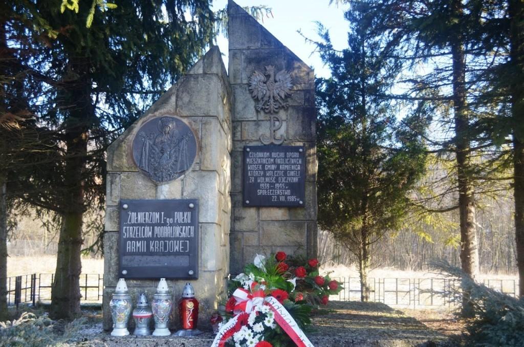 pomnik żołnierzy AK w Szczawie