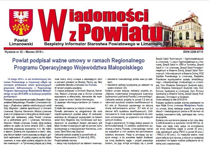 Okładka gazety wiadomości z powiatu