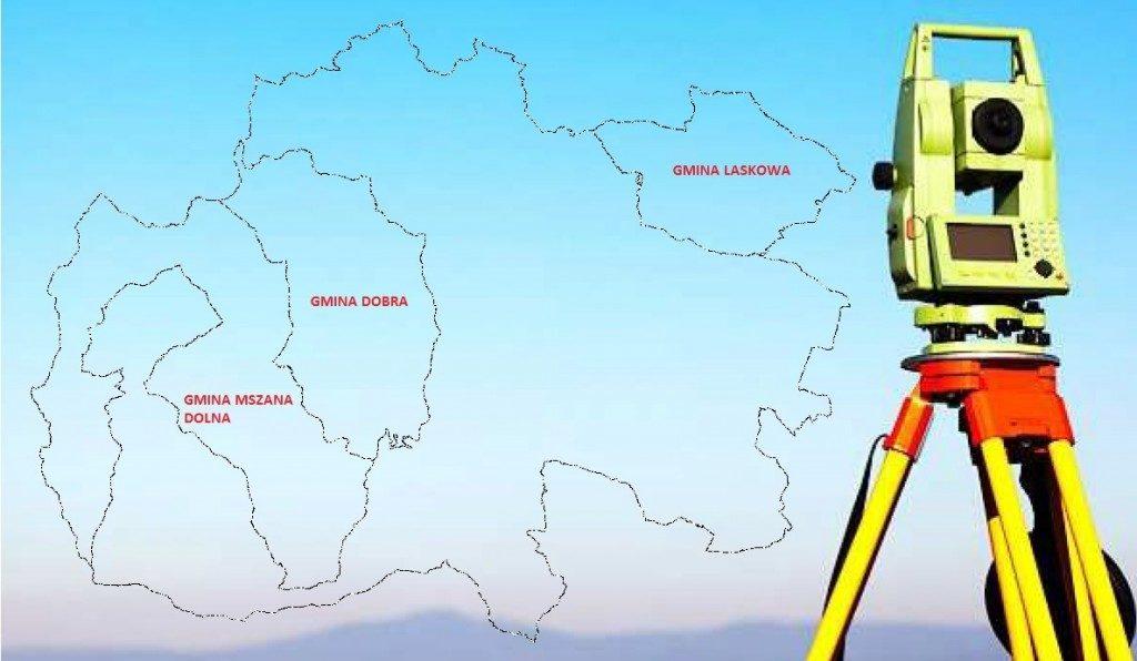 mapa powiatu limanowskiego
