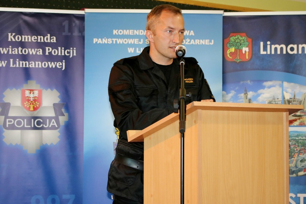 Wojciech Frączek podczas przemówienia