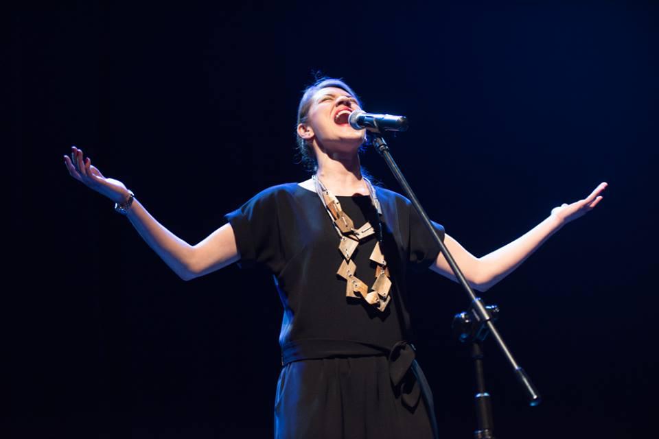 Sylwia Zelek podczas występu