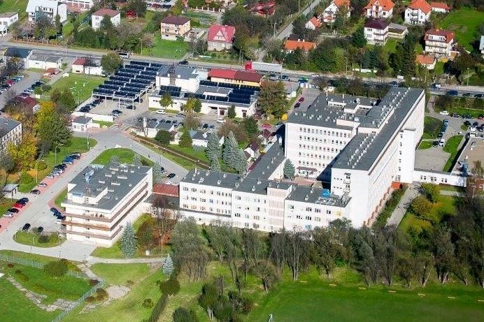 Szpital Powiatowy w Limanowej widok z góry