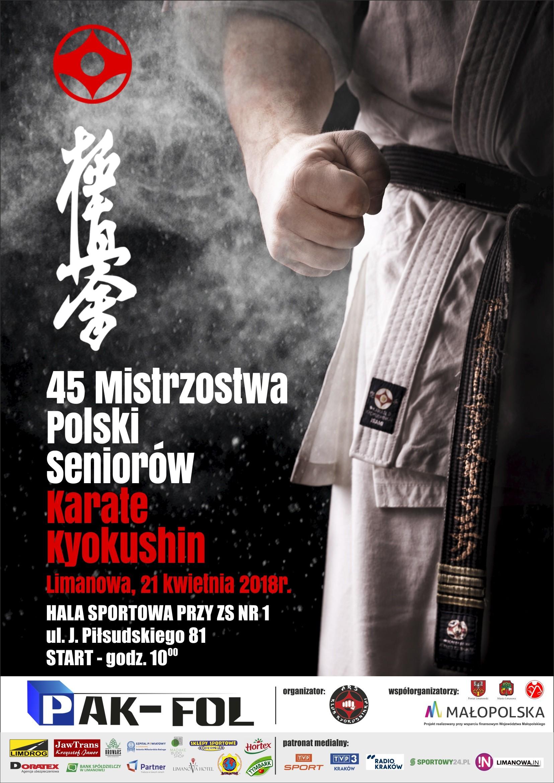 45 Mistrzostw Polski Seniorów Karate Kyokushin plakat
