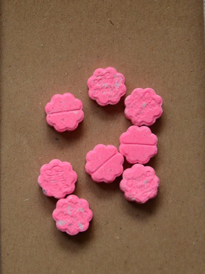 Różowe tabletki nakrotykowe