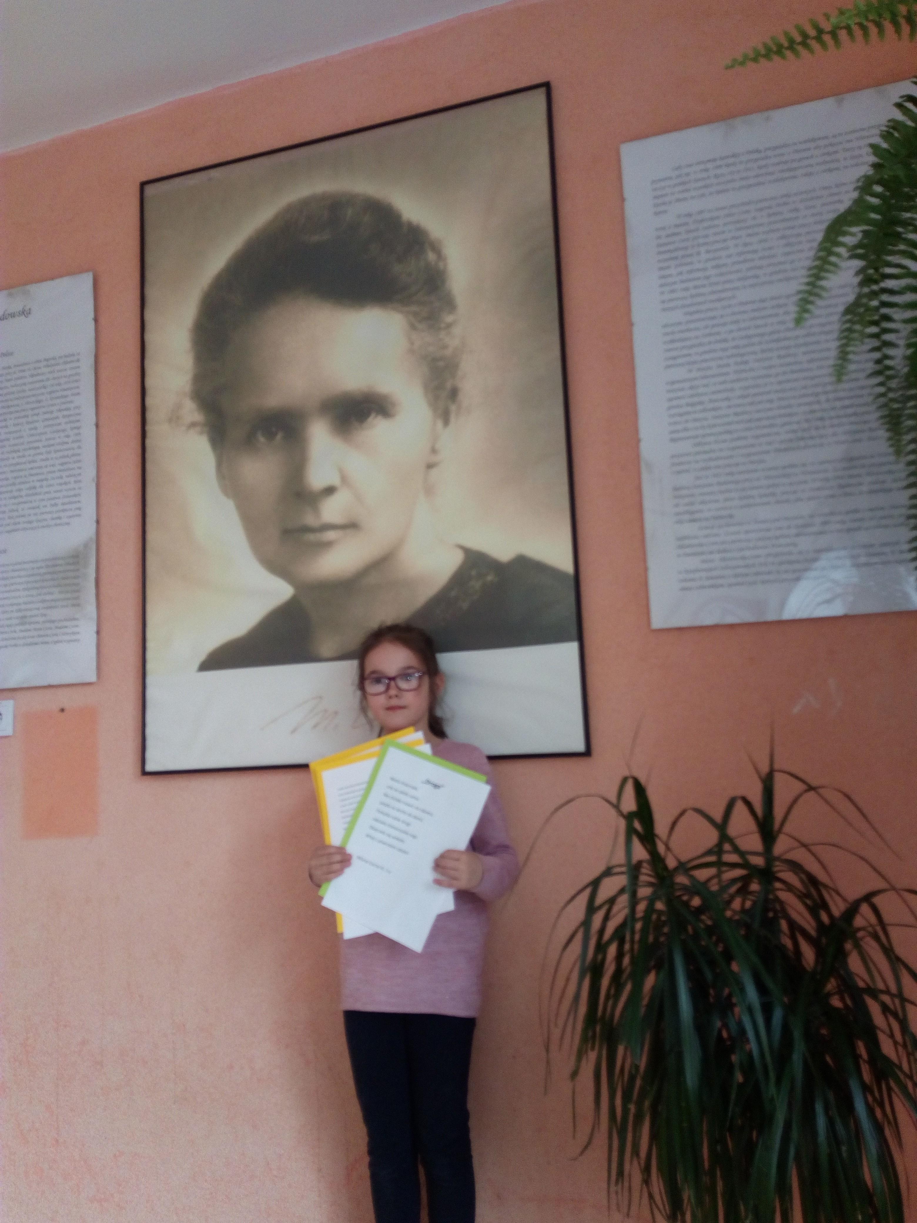Uczennica klasy 3 Szkoły Podstawowej w Kasinie Wielkiej, Milena Łacna, otrzymała wyróżnienie w XXXIV Międzynarodowym Konkursie Literackiej Twórczości Dzieci i Młodzieży