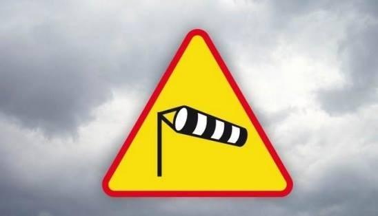 silny wiatr - znak