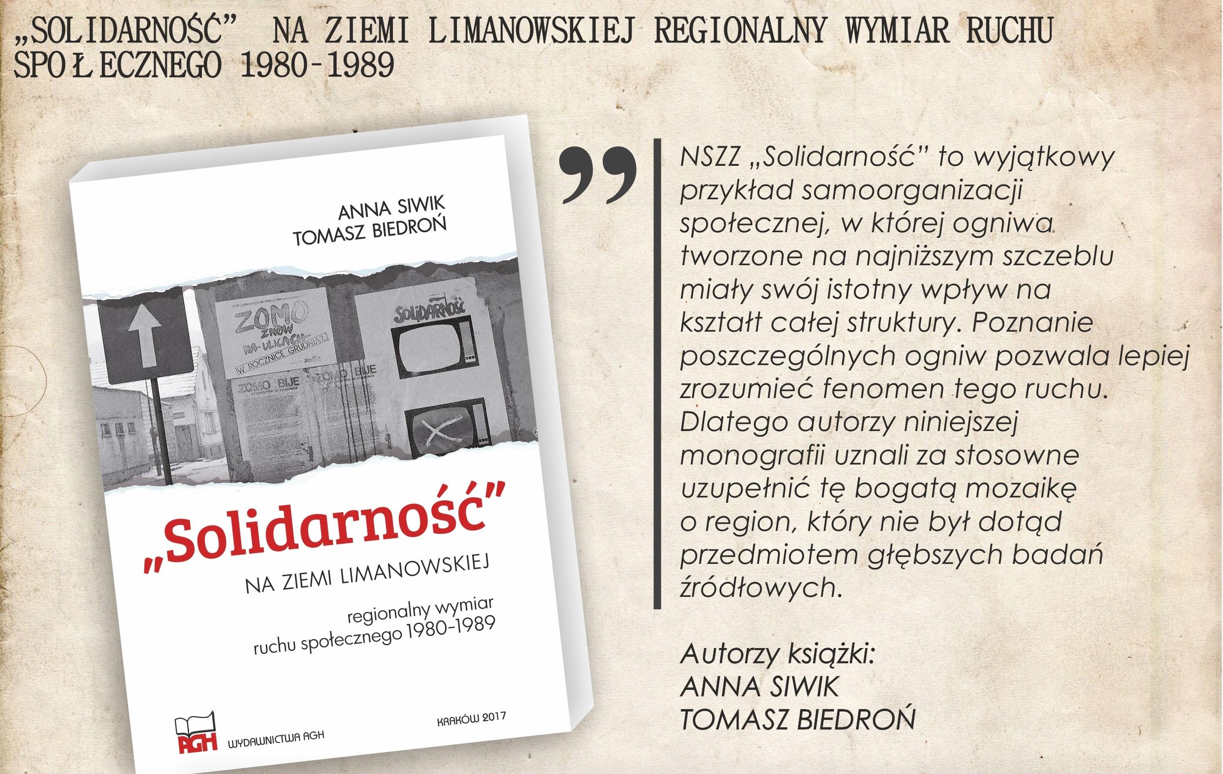 cytat z książki Solidarność na Ziemi Limanowskiej