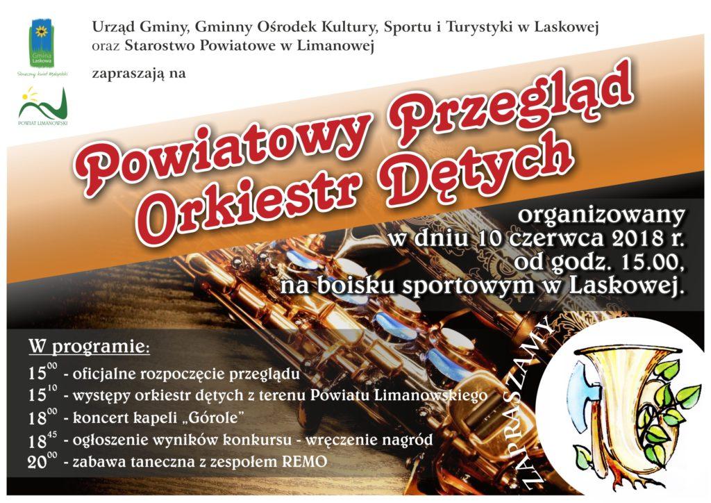 Plakat przeglądu orkiest dętych