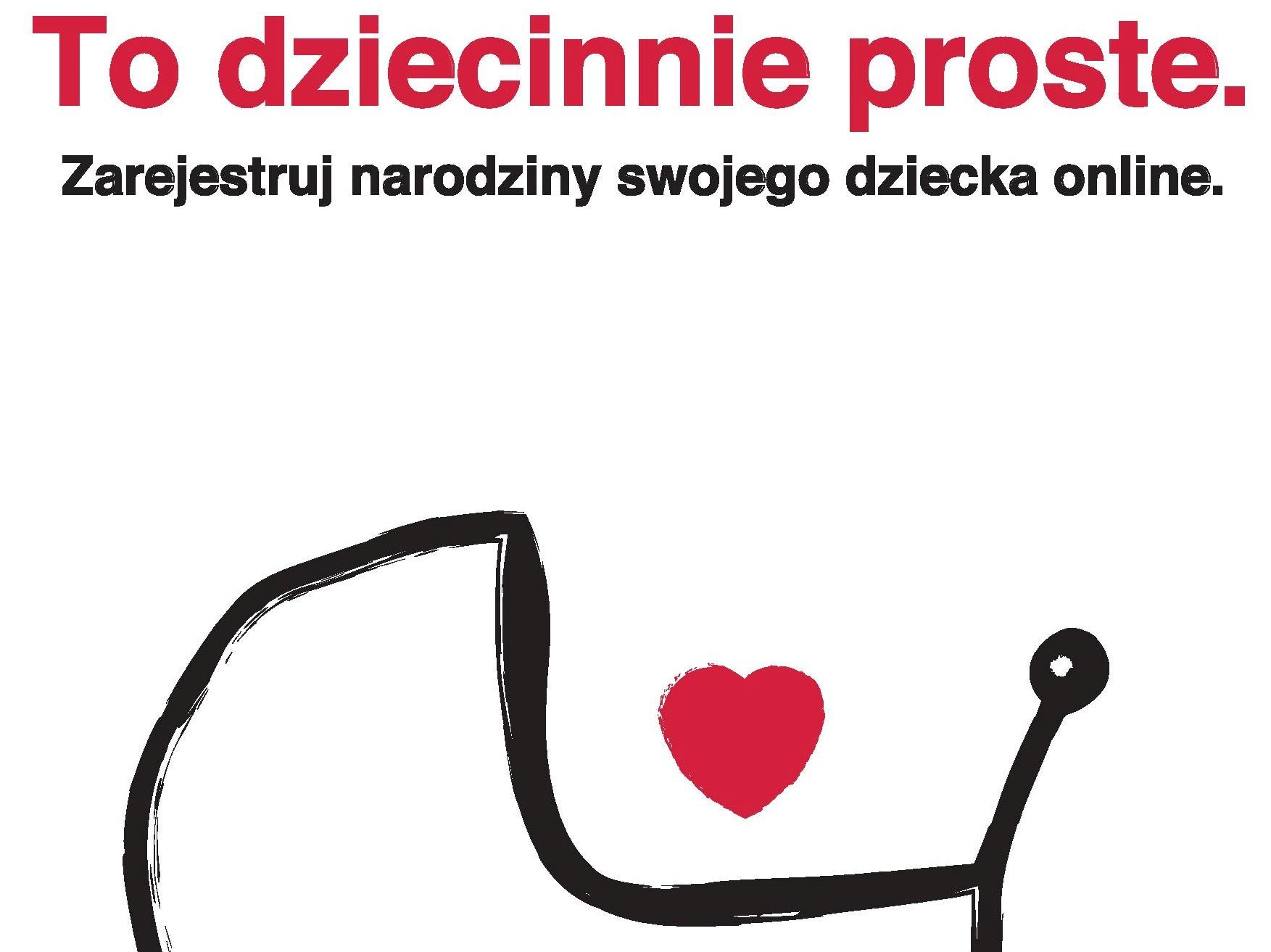plakat To dziecinne proste - zarejestruj dziecko online