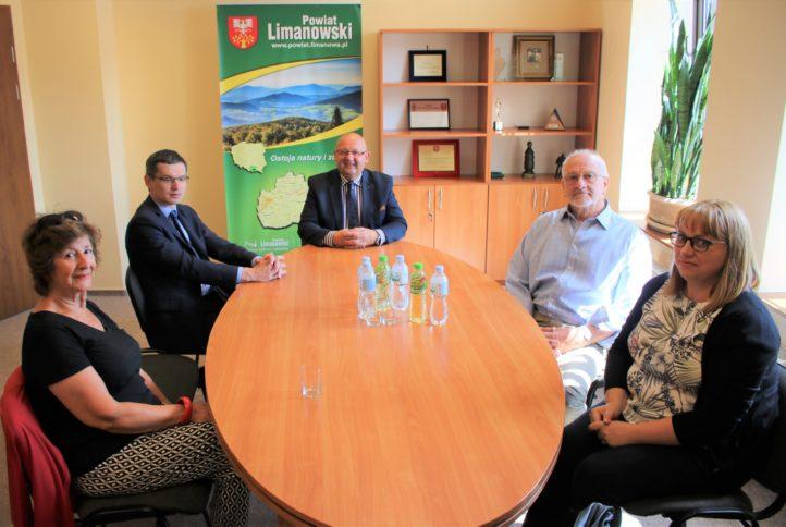 Delegacja z Anglii z wizytą u starosty limanowskiego