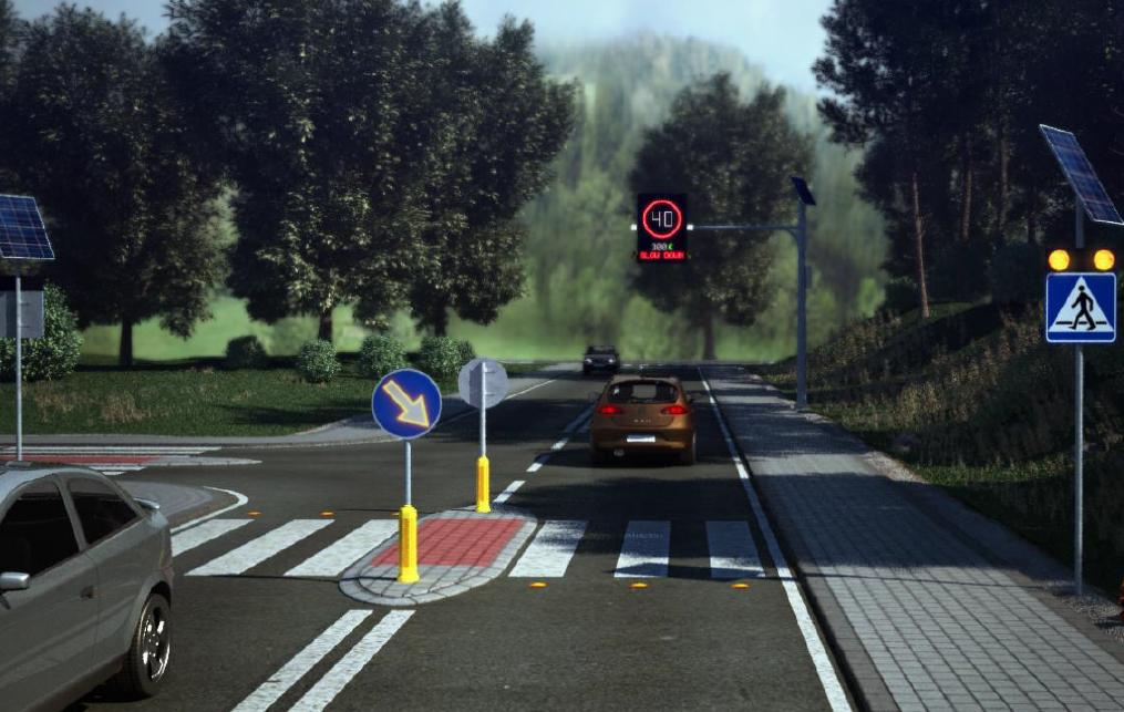 projekt bezpiecznego przejścia dla pieszych