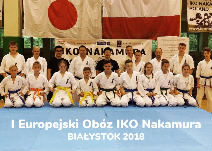zawodnicy karate limanowa podczas obozu IKO w Białymstoku