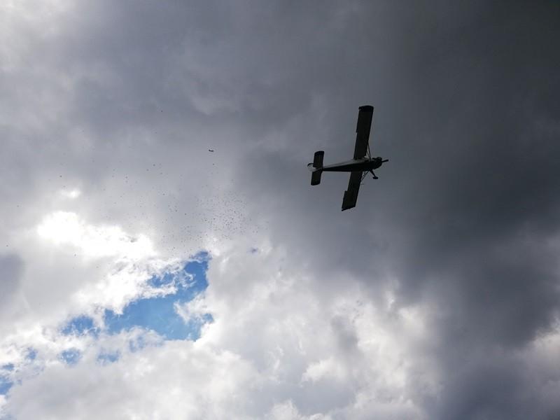 samolot na słopnickim niebie