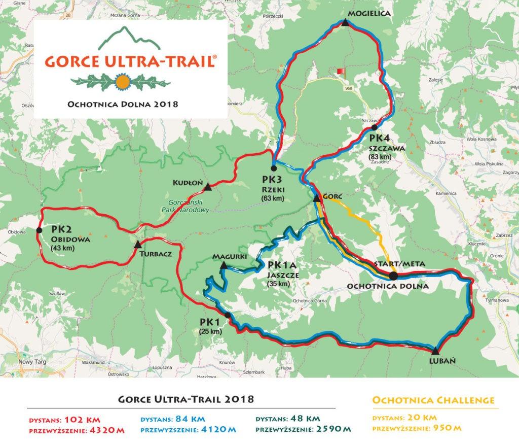 trasa biegu w GUT 2018