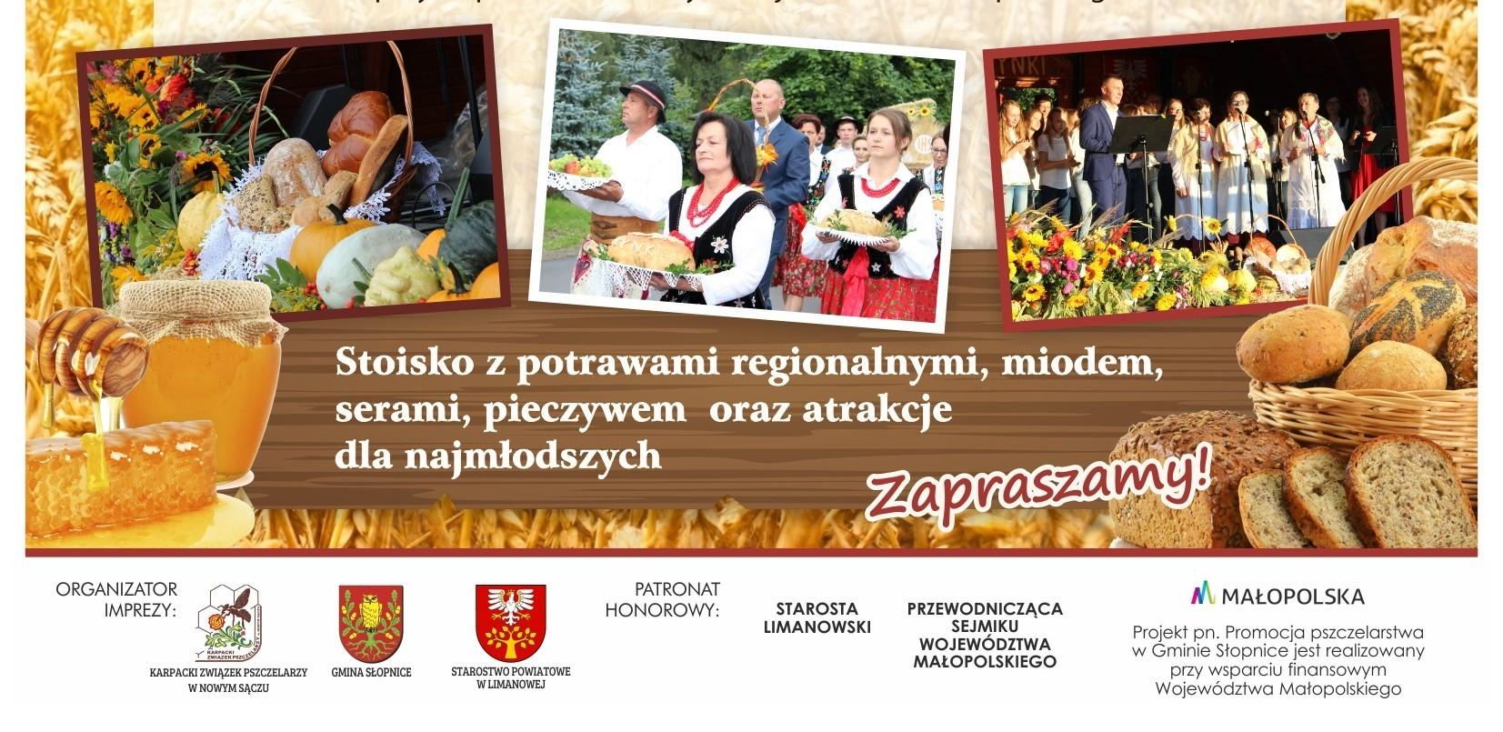 Dożynki w Słopnicach - plakat
