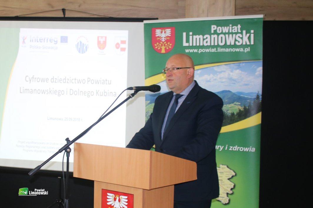 Spotkanie otworzył i gości przywitał Starosta Limanowski Jan Puchała
