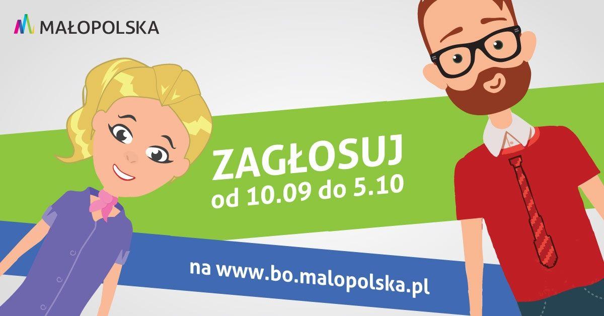 baner z napisem - Zagłosuj od 10.09 do 5.10 w Budżecie Obywatelskim