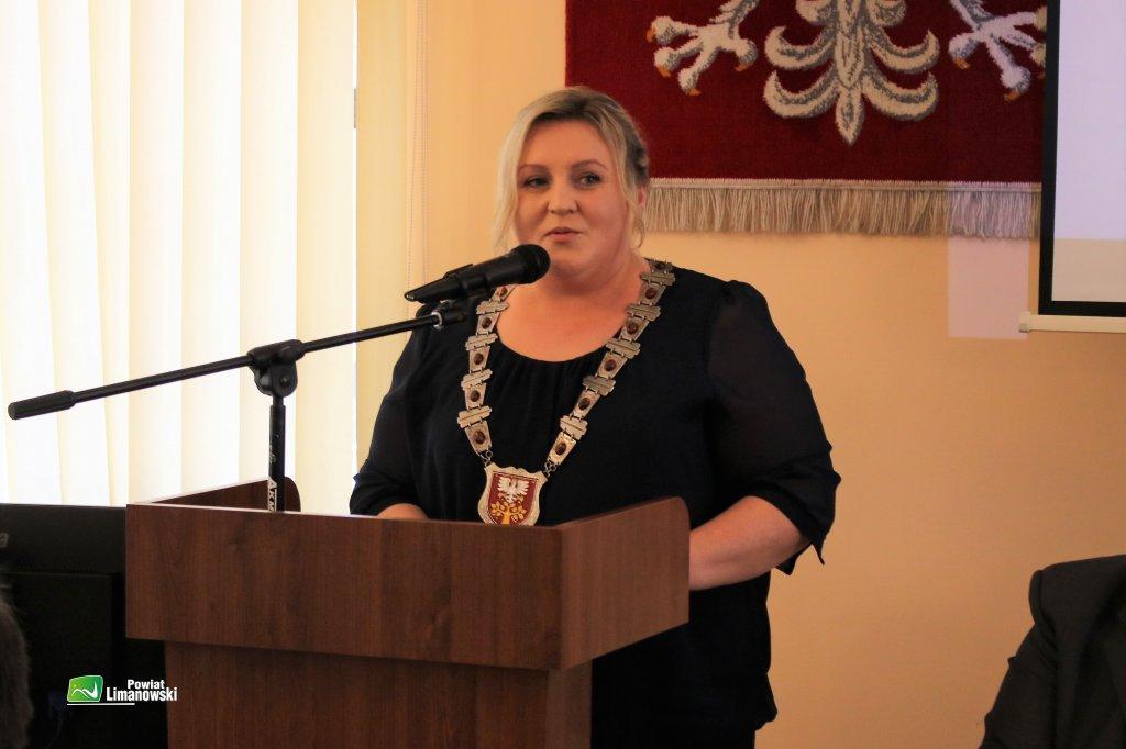 Ewa Filipiak została wybrana na Przewodniczącego Rady Powiatu Limanowskiego zdecydowaną większością głosów.