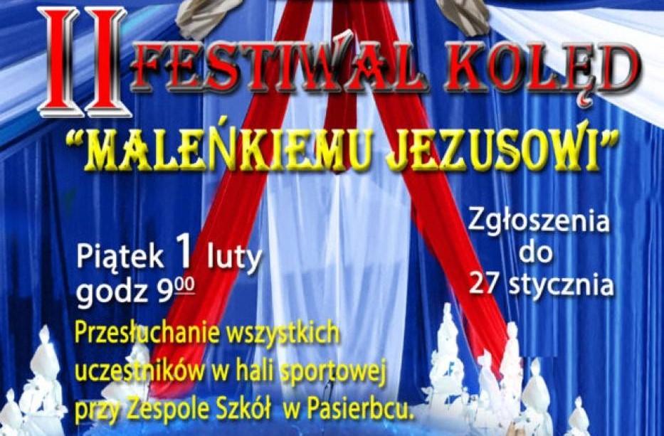 banerek informujący o Festiowalu Kolęd w Pasierbcu