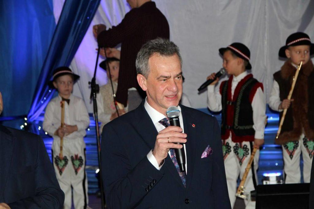 życzenia dla uczestników konkursu składa Starosta Limanowski
