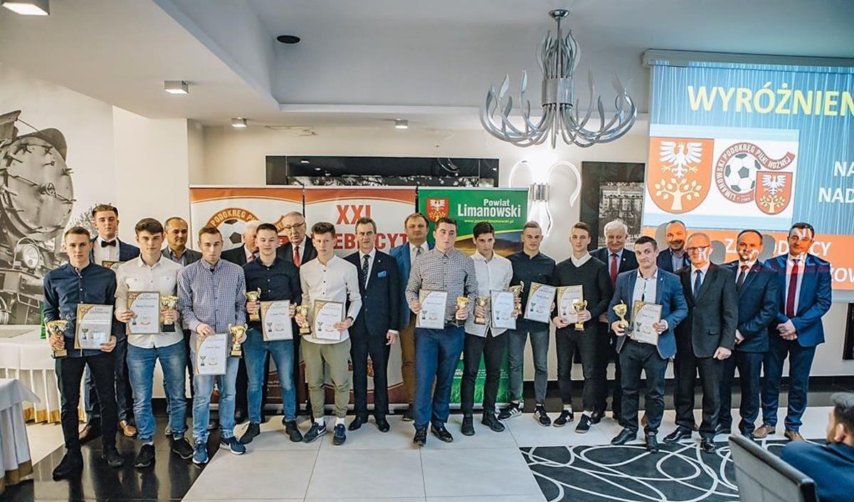 uroczyste podsumowanie XXI Plebiscytu na Najpopularniejszego Piłkarza i Trenera Ziemi Limanowskiej 2018 roku