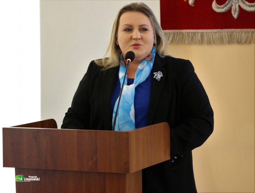 Przewodnicząca Rady Powatu liamnwoskiego Ewa Filipiak