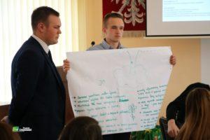 młodzież na spotkaniu z tworzenia strategii prezentuje swoje pomysły