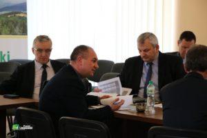 Spotkanie z kadra kierownicza i zarządem powiatu
