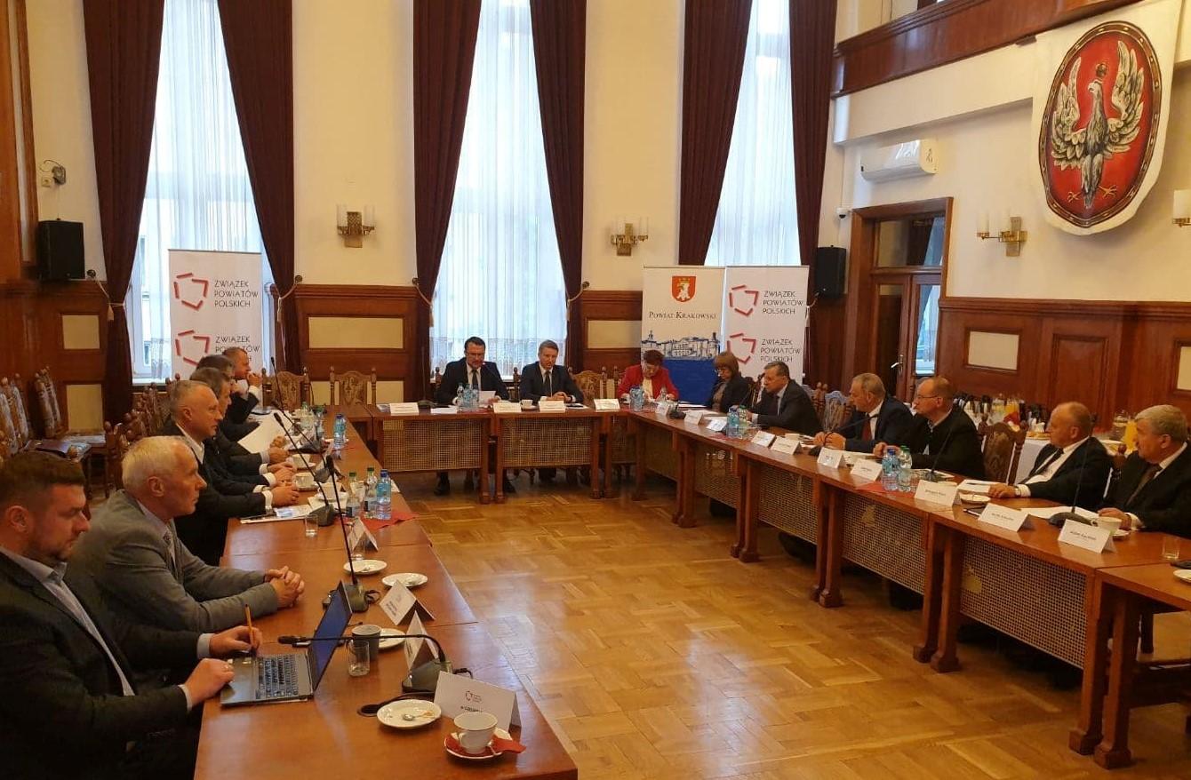 Konwent Powiatów. Starostowie na konwencie w starostwie w krakowie