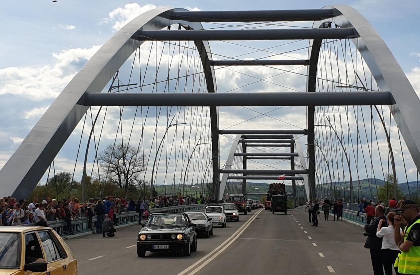 Oficjalne otwarcie ronda i nowo wybudowanego mostu w Nowym Sączu