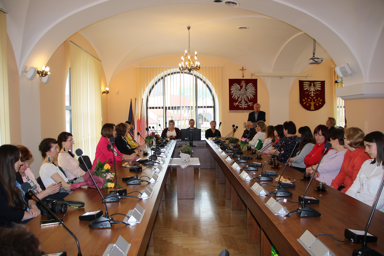 Uczestnicy Powiatowej Konferencji Bibliotekarzy w Starostwie Powiatowym