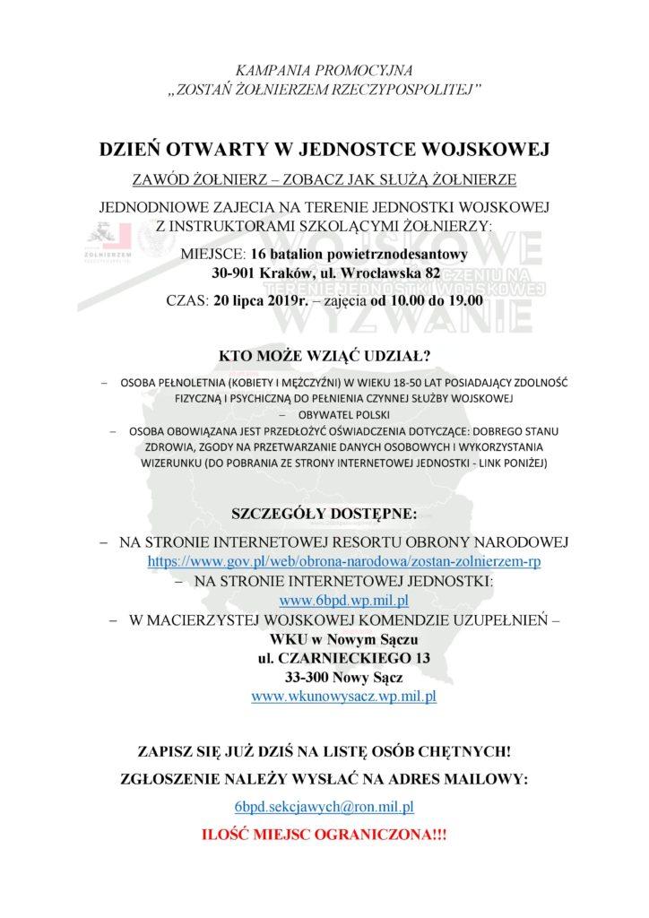Ogloszenie WKU Nowy Sacz