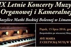 Letnie koncerty organowe Limanowa