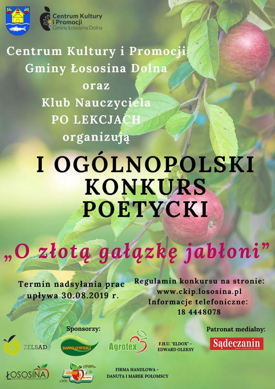 """Konkurs poetycki """"O złotą galazkę jabłoni"""""""""""