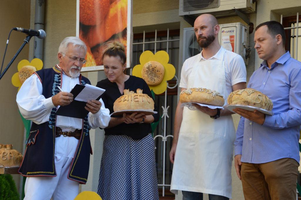 Marian Wójtowicz podczas Święta chleba