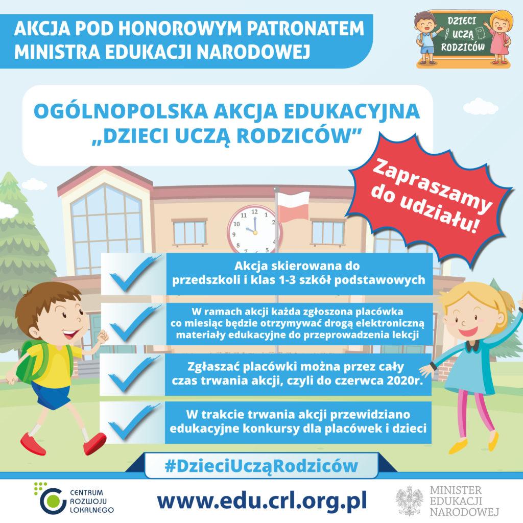 """Akcja edukacyjna """"Dzieci uczą rodziców"""""""