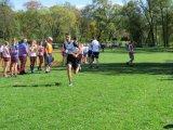 Powiatowe Igrzyska Dzieci, Igrzyska Młodzieży szkolnej , Licealiada Młodzieży w Sztafetowych Biegach Przełajowych - zawodnicy podczas biegu