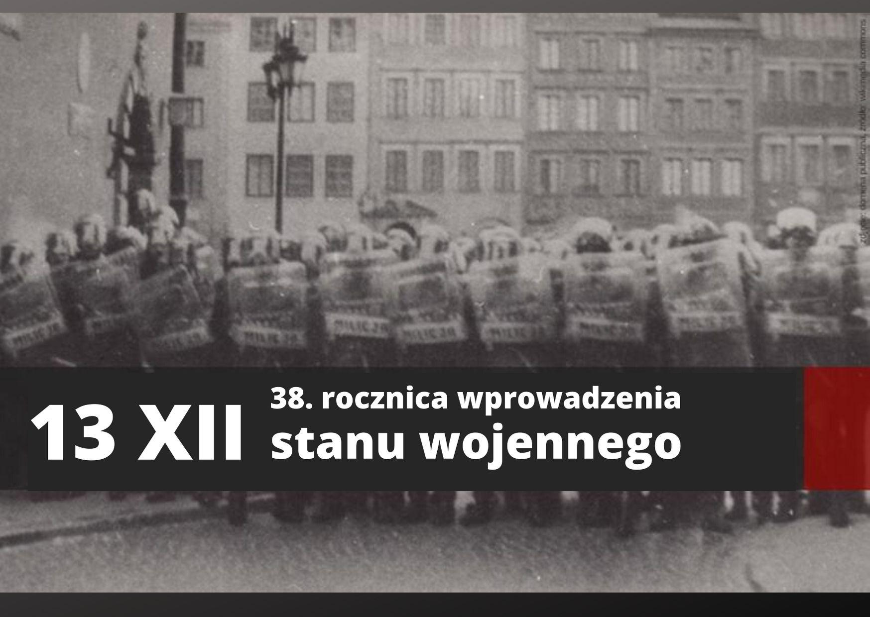13 grudnia 2018 - 38. rocznica stanu wojennego, plakat