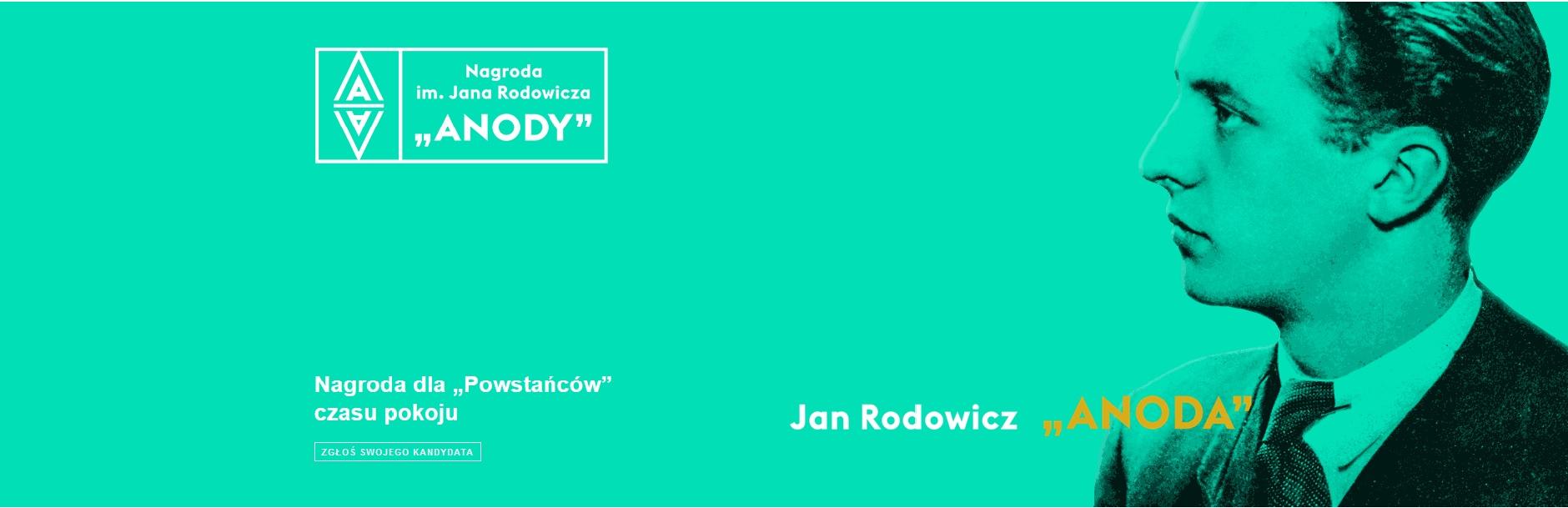 """IX edycja Nagrody im. Jana Rodowicza """" Anody""""- plakat informacyjny"""