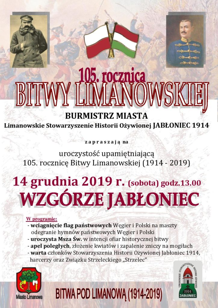 105. rocznica bitwy pod Limanową