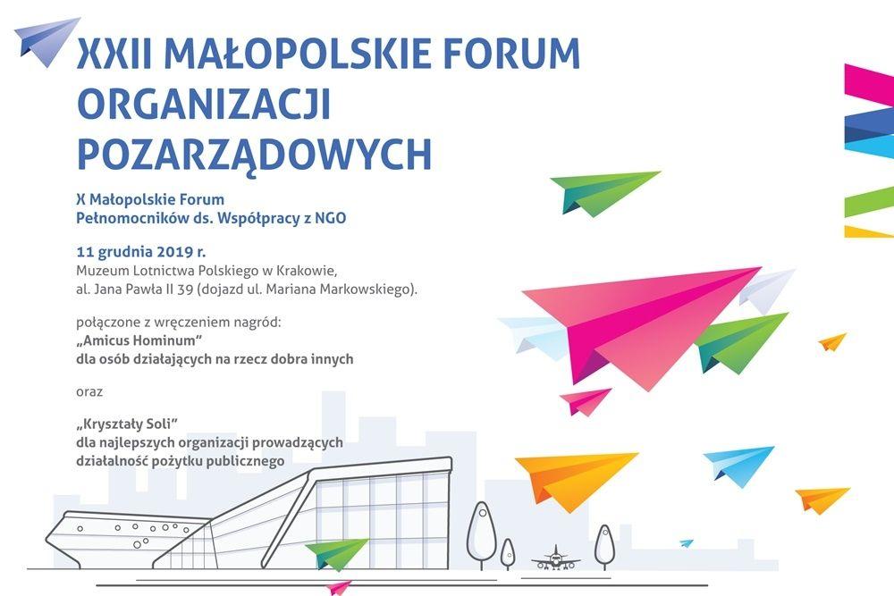 XXII Malopolskie Forum Organizacji Pozarządowych - logo