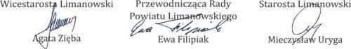 Zarząd powiatu limanowskiego-podpisy