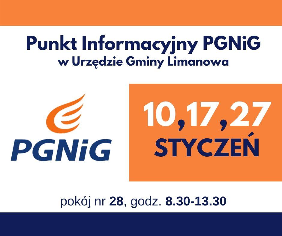 Informacja UG Limanowa: dyzur punktu PGNiG