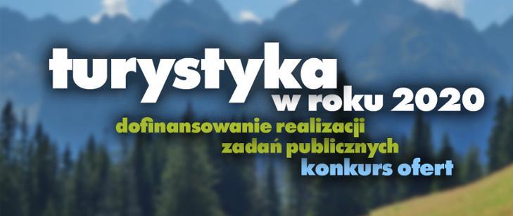 Konkurs na wsparcie rozwoju turystyki w Polsce 2020 - plakat