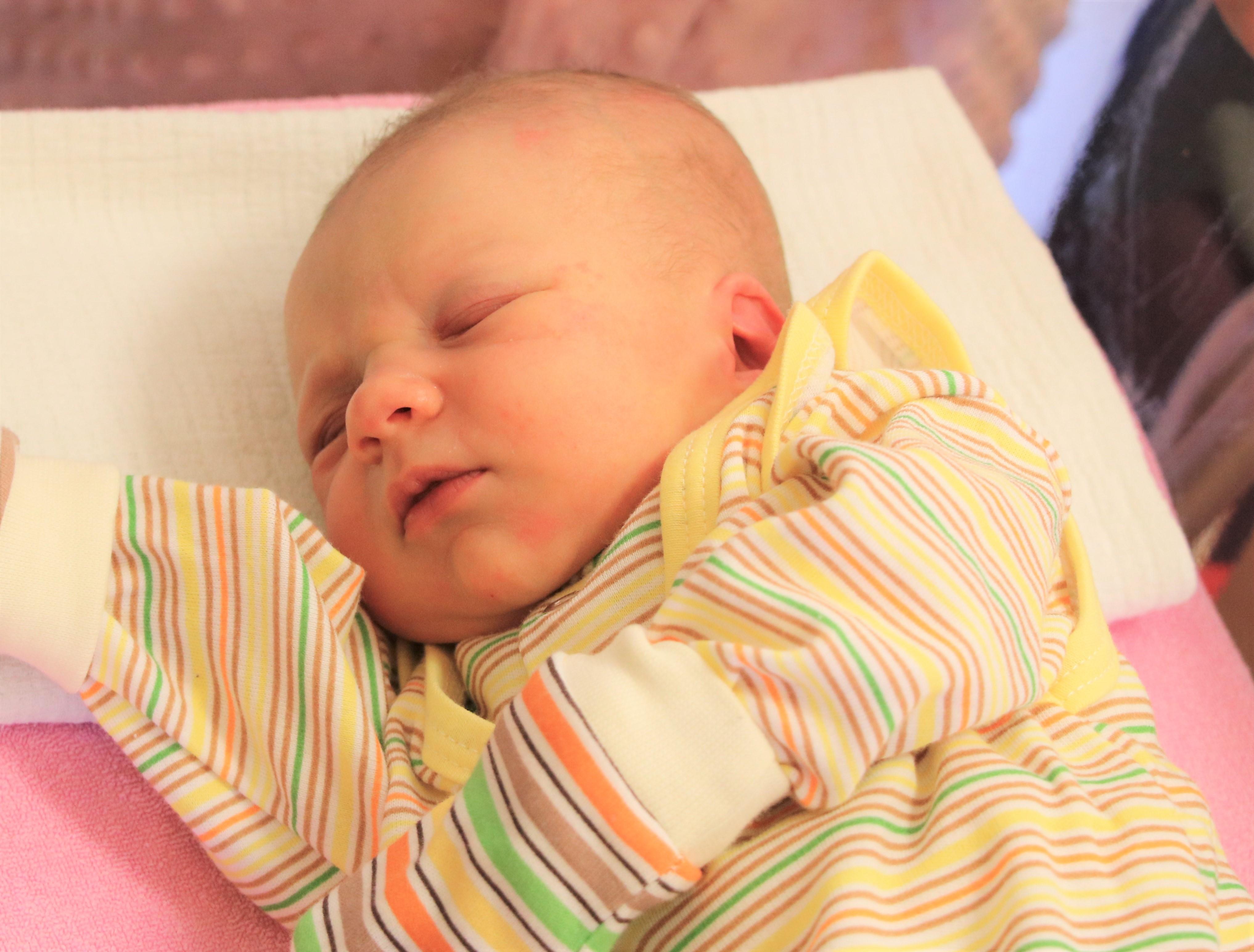 Zdjęcie Lilianki Migacz - pierwszego dziecka urodzonego w 2020 w Powiecie Limanowskim